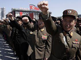 Nordkoreas Armee ist mannstark. Technologisch kann sie es mit den USA jedoch nicht aufnehmen.
