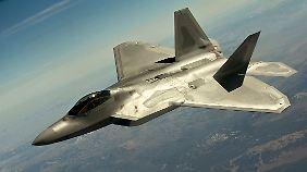 Mehrere solcher F-22-Raptor-Kampfjets haben die USA nach Südkorea verlegt.