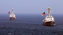 Mit Hubschraubern und Zerstörern unterstützen die USA Südkorea (Archivbild).