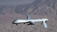 Eine Drohne von Typ MQ-1 Predator der US Air Force.
