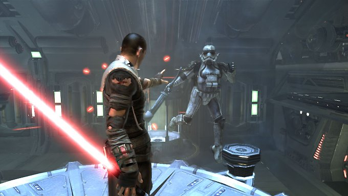 "Screenshot des Spiels ""Star Wars: The Force Unleashed""."