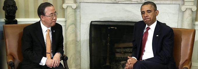 Barack Obama und Ban Ki Moon sind sehr besorgt.