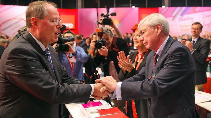 SPD-Kanzlerkandidat Peer Steinbrück kann in diesem Jahr auf die Unterstützung von DGB-Chef Michael Sommer setzen.