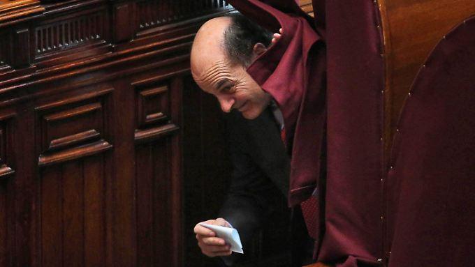 PD-Chef Bersani muss bangen, ob er seinen Kandidaten durchbringt.