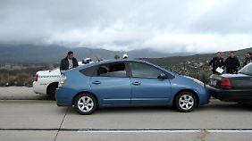 """""""Runaway-Prius"""": Ein Prius, der sich angeblich nicht bremsen ließ, war der Anfang einer beispiellosen Pannenserie für Toyota."""