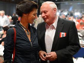Seit 2011 offiziell ein Paar: Sahra Wagenknecht und Oskar Lafontaine.