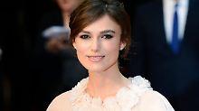 """Knightleys Robe bei der Premiere von """"Anna Karenina"""" kommt einem Hochzeitskleid schon sehr nahe."""