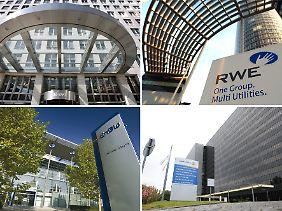 Die großen vier Energieversorger: Eon, RWE, EnBW und Vattenfall.