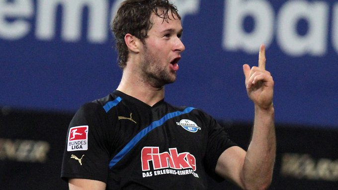 """Ich bin großer Bayern-Fan"""": Nick Proschwitz, hier noch im trikot des SC Paderborn."""