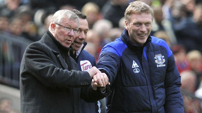 Zu heißblütig? David Moyes, rechts, übernimmt bei Manchester United das Zepter von Alex Ferguson.
