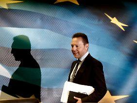 Finanzminister Stournaras bemüht sich um Optimismus.