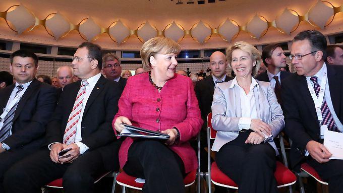 Kanzlerin Angela Merkel überließ Details lieber ihren Ministern.