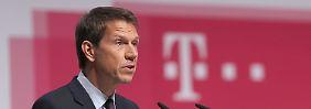 Telekom-Chef Obermann übergibt zum Ende des Jahres seinen Posten an Finanzvorstand Höttges.