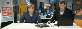 """Tele-Townhall bei der CDU: """"Schönen guten Abend, Frau Dr. Merkel"""""""