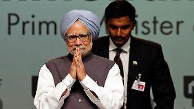 Premier in der bevölkerungsreichsten Demokratie der Erde: Manmohan Singh.
