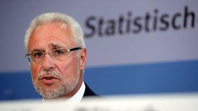 Der Präsident des Statistischen Bundesamtes, Roderich Egeler, hatte Überraschendes zu verkünden.