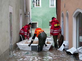 Land unter in Passau.