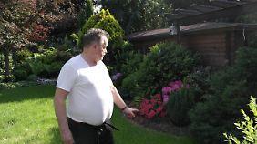 Besonders stolz ist Hilgers auf seinen liebevoll angelegten Garten.