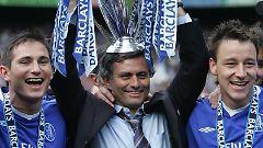 """Mit den """"Blues"""" konnte Mourinho zwei Meisterschaften und einen FA-Cup holen."""