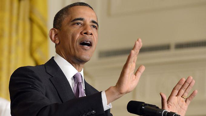 US-Präsident Obama muss sich im US-Haushaltsstreit heftiger Angriffe der Republikaner erwehren.