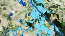 Flussläufe dramatisch verbreitert: Satellitenbilder zeigen Rekord-Hochwasser