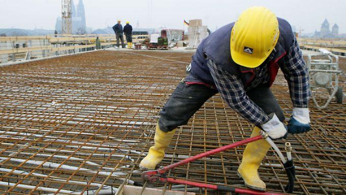 Die Bauwirtschaft trug nach dem langen Winter zum Wirtschaftswachstum im Frühjar bei