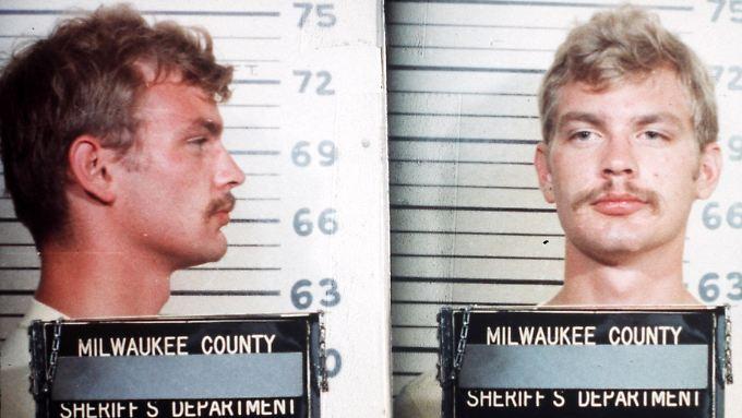 Dahmer auf einem Polizeifoto von 1982 - damals war er wegen Exhibitionismus verhaftet worden.