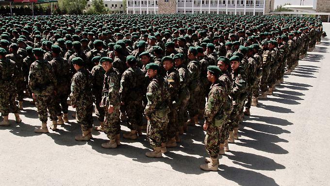 Afghanische Soldaten in Kabul.