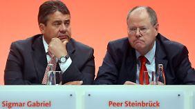 Lange Gesichter bei der SPD: Umfragewerte setzten Steinbrück weiter unter Druck