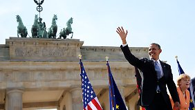 Umjubelter Empfang für US-Präsident Obama