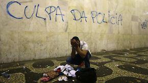 """Noch eine Nacht endet in Gewalt: Brasiliens Präsidentin verspricht """"großen Pakt"""""""