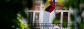 Die Botschaft Ecuadors in Moskau. Auch hier könnte Snowden gelandet sein - oder sich auf dem Weg direkt in das Land befinden.
