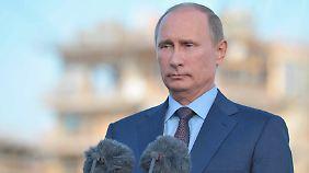 Putin bleibt ganz unaufgeregt.