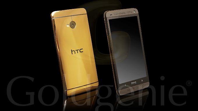 Das goldene HTC One kostet schlappe 2231 Euro.