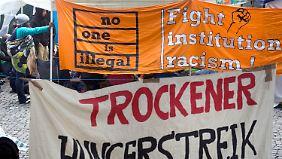 Flüchtlinge drohen mit Selbstmord: Asylbewerber in München hungern weiter