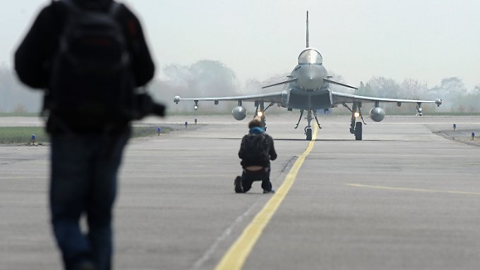 """Der """"Eurofighter"""" ersetzt die alten Phantom-Maschinen."""