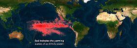 Das El Niño-Phänomen im Pazifik.