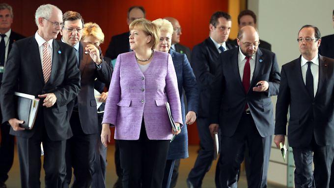 Angela Merkel als Gastgeberin im Bundeskanzleramt