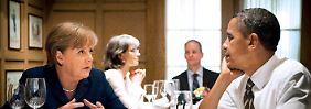Ein äußerst unangenehmes Thema für Angela Merkel und Barack Obama (Archivbild).