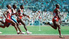 Der Fall Ben Johnson (1988): Es ist die Mutter aller Doping-Skandale. Bei den Olympischen Spielen in Seoul siegt der kanadische Sprintstar Ben Johnson im 100-Meter-Finale in der Weltrekordzeit von 9,79 Sekunden. In Johnsons Urinprobe wird das Steroid Stanozolol nachgewiesen, er verliert Gold und Rekord.