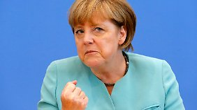 Pressekonferenz in Berlin: Merkel will europäischen Datenschutz verbessern