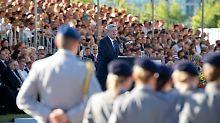 Bundespräsident Gauck verwies darauf, dass die Widerstandskämpfer auch die entstehende Bundeswehr geprägt hätten.