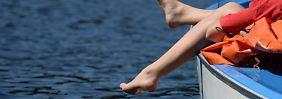 Das Sommerwochenende war wie gemacht, um einfach mal die Beine baumeln zu lassen.