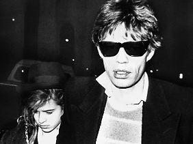 Daddy's Girl: Mick Jagger und seine Tochter Jade im Jahr 1984.