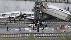 Mehr als 200 Menschen sind mit dem aus Madrid kommenden Zug unterwegs. Viele von ihnen ...