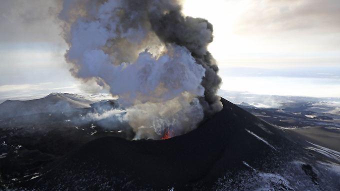 Vulkanausbruch in Kamtschatka.