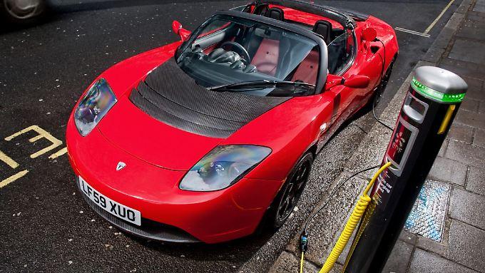 Chic und schnell: Der Tesla-Roadster.