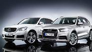 2015 soll auch eine Neuauflage des GLK auf den Markt kommen, ein Jahr später wird der neue Q5 erwartet. Beide Modelle sollen sich optisch annähern und etzen selbstredend auf sparsamere Motoren sowie Plug-in-Hybride. Außerdem wird es jeweils Coupé-Varianten geben: ab 2016 den Mercedes GLC sowie den Audi Q6 ab 2017.