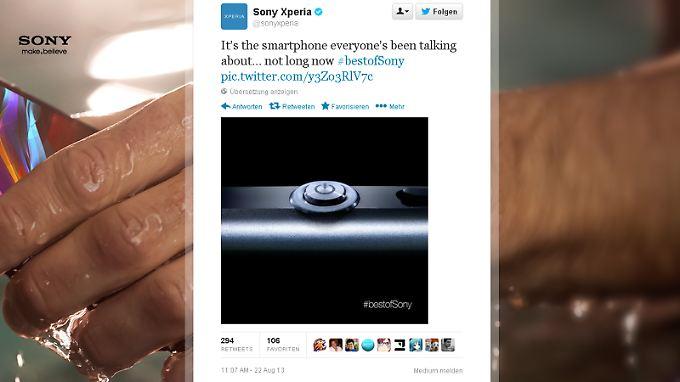 Sony hat auf Twitter ein kleines Stück des Xperia Z1 gezeigt.