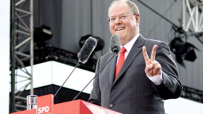 Der Kampf gegen den Steuerbetrug ist eines seiner größten Wahlkampfthemen: Kanzlerkandidat Peer Steinbrück.